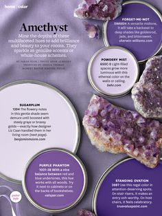 Home office color palette could be shades of amethyst by BHG.