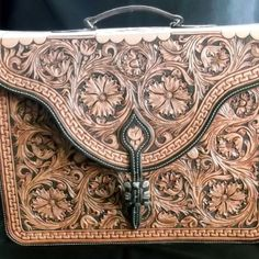 This is amazing. Floral Carved Briefcase