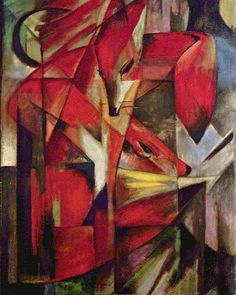 Shop Foxes by Franz Marc, Vintage Abstract Cubism Art Canvas Print created by MasterpieceCafe. Panel Wall Art, Canvas Wall Art, Canvas Prints, Wassily Kandinsky, Painting Prints, Art Prints, Oil Paintings, Artist Canvas, Find Art