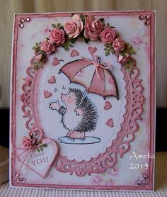 Penny Black cards – Page 2 – Stamped for the Occasion 3d Cards, Love Cards, Stampin Up Cards, Penny Black Karten, Penny Black Cards, Valentine Day Cards, Valentines, Umbrella Cards, Animal Cards