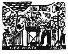 Woodcut print by J. Miguel Borges, Bezerros, Pernambuco