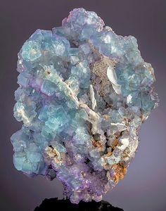 Fluorite - Komshejeh Mine, Komshejeh, Ardestan County, Esfahan Province, Iran