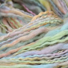 Multicolor Acrylic wool pastel white, pink, green, light blue, yellow Yarn 50 gramms, for stripe sock, cup, baby sweater