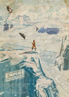 Star Wars Empire Strikes Back poster by Mainger