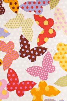 Image of 'Butterfly Fabric wallpaper background'