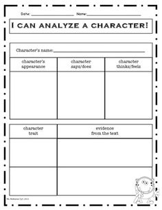 Worksheet Character Analysis Worksheet the ojays character traits graphic organizer and organizers on pinterest