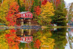 Vermont no outono: Dá para acreditar nessas cores?Foto: Reprodução