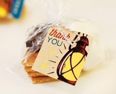 Camping Party Printables {S'more Favors}