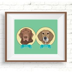 "Personalized pet portraits make fantastic gifts that can be cherished ""furrever"". #personalizedpetportrait #custompetportrait #chocolatelabportrait #coonhoundportrait #dogportraits #digitaldogportrait #giftsfordoglovers #petsympathygift #petlovergifts #customillustration #dogillustration #digitalpetportrait #petmemorial #dogmemorial"