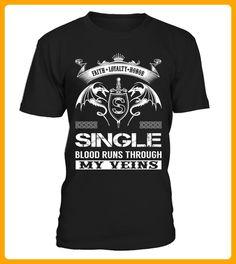 SINGLE Blood Runs Through My Veins - Shirts für singles (*Partner-Link)