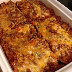 21 Day Fix Beef & Brown Rice Taco Bake: