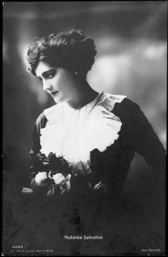 Italian opera singer Mafalda Salvatini, who was rumoured to be the mistress of Adolf Friedrich IV, the last Grand Duke of Mecklenburg-Strelitz.