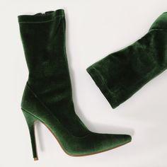 Velvet Sock Boots | Public Desire