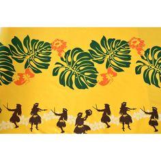 ハレハワイアン / ハワイアン生地 【モンステラ/フラ】イエロー|ハワイアン生地 ファブリック ハワイアンドレス ムームー アロハシャツ フラダンス 衣装 楽器 イプ ウリウリ パレオなどを取り扱っています Tahitian Dance, Tiki Mask, Jazz Art, Blue Hawaii, Monstera Deliciosa, Hula Girl, Vintage Hawaiian, Plant Design, Cool Artwork
