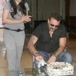 Sanjay Dutt celebrates his 57th birthday with wife Maanyata Dutt kids and the media- View HQ pics!