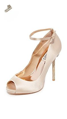 Badgley Mischka Women's Diego Dress Pump, Nude, 8 M US - Badgley mischka pumps for women (*Amazon Partner-Link)