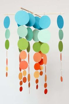 For Monkey's bedroom.  I can match her bed colors and instead of circles, make butterflies, like her set