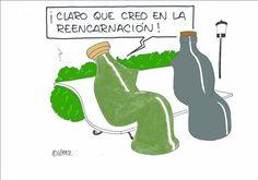 #EcoHumor: Vidrio-reencarnación.