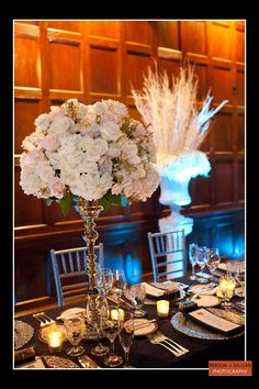 Boston Wedding Photography, Boston Event Photography, Harvard Club of Boston Wedding, Floral Arrangements, Wedding Centerpieces