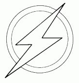 coloring picture of The flash logo of Barry Allen