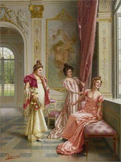 Vittorio Reggianini (1858 - 1938) - The coquette's adventure