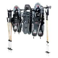 Large Snowshoe Rack Price: Snowshoe Rack by Monkey Bars allows you to store up to 6 pairs of snowshoes, perfect for a large family. It will hold all sizes and styles of snowshoes. Get your gear stored right with the Monkey Bar Snowshoe Rack. Ball Storage, Shoe Storage, Garage Storage, Storage Rack, Storage Ideas, Garage Organization, Loft Storage, Storage Solutions, Organizing