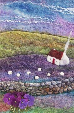Aileen Clarke Crafts and there is more, she has an etsy shop too – felt Wet Felting Projects, Needle Felting Tutorials, Felt Wall Hanging, Felt Crafts Patterns, Felt Pictures, Felt Fairy, Felt Embroidery, Needle Felted Animals, Felt Animals