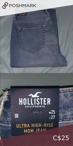 BRAND NEW HOLLISTER JEANS bought these and they were too small! I bought the next size up and they're my FAVOURITE jeans!   never been worn! Hollister Jeans Boyfriend Hollister California, Hollister Jeans, Boyfriend Jeans, Brand New, My Favorite Things, Best Deals, Closet, Stuff To Buy, Things To Sell
