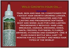 how to use wild growth oil ehow wild growth oil is a hair product . Hair Thickening Remedies, Wild Growth Hair Oil, Nail Oil, Wild Hair, Summer Hairstyles, Hair Loss, Hair Hacks, Hair Inspiration, Natural Hair Styles