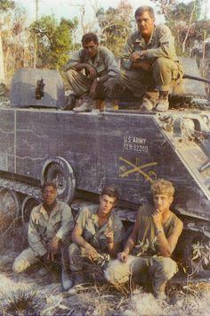 M-113 ACAV crew, 11th Cav., 1971 - Vietnam War. #VietnamWarMemories