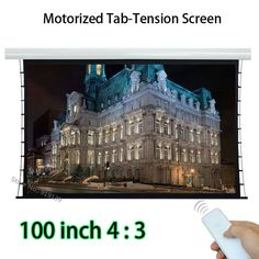 422.75$  Watch here - http://ali8k9.worldwells.pw/go.php?t=32697099518 - HD Projector Screen 80x60 Viewing Size Motorized Tab-tension Front Projection Screens With 12V Trigger