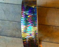 rainbow holographic shifting color change iridescent tape hula hoop tape best fishing lure tape nail art deco tape rainbow morph
