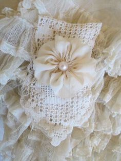 Lacy lavender sachets, so pretty~❥