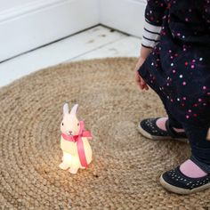 Cute Bunny Night Light with Ribbon  #bunnyinabow
