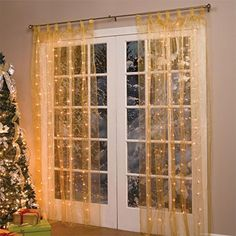 Brylanehome PreLit Curtain Panel Gold >>> Want additional info? Click on the image.