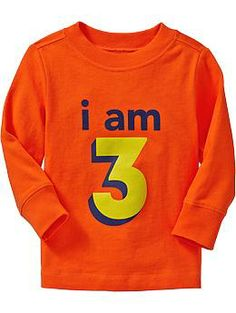 """I Am 3"" Tees for Baby 