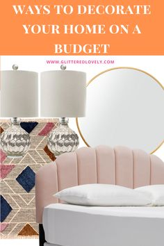 Here are some tips and tricks to decorate your home on a budget. #homedecorbudget