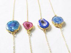 geode bracelet, agate bracelet, druzy bracelet, quartz bracelet, raw gemstone bracelet, geode jewelry, druzy jewelry