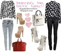 Valentine outfit ideas for school/work/etc.