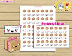 Happy mail Icons Printable Planner Stickers