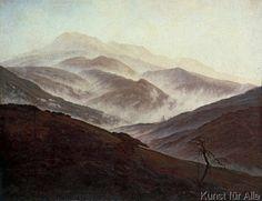 Caspar David Friedrich - Riesengebirgslandschaft mit aufsteigendem Nebel