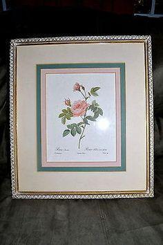 Vintage Rose Print Framed 15x17