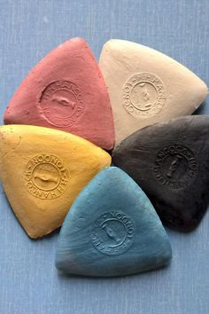 Take your pick from all the colours of Hancock's original marking chalk, made in the UK. This smooth chalk is great for marking fabrics and easily brushes off or washes out of most cloth. #BeyondMeasure #sewing #tools Sewing Tools, All The Colors, Brushes, Triangle, Smooth, Scrap, Fabrics, Colours