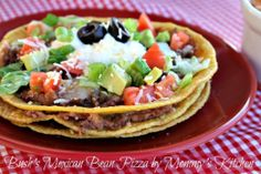 Mommy's Kitchen: Mexican Bean Pizza