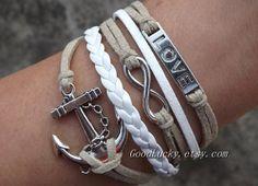 Couple bracelets leatherInfinity wish by charmjewelrybracelet, $10.29