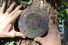 Celtic Knot Mandala Stone Sculpture Garden Gifts Irish | Etsy Stone Sculpture, Outdoor Sculpture, Outdoor Art, Sculpture Art, Sculpture Garden, Celtic Heart, Celtic Knot, Irish Celtic, Garden Owl
