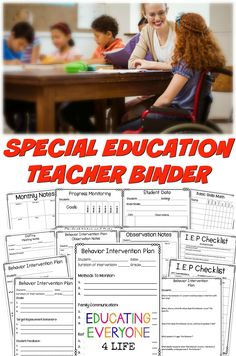 Special Education Teacher Binder - A great resource for the special education…