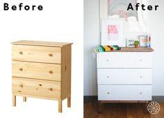 Before & After Ikea Dresser Hack by Homepolish New York City https://www.homepolish.com/mag/the-ikea-dresser-hack?utm_source=hp_pinterest&utm_medium=organic_social&utm_campaign=ikeadresser