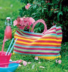 next project-Un grand cabas entièrement crocheté Crochet Beach Bags, Love Crochet, Learn To Crochet, Knit Crochet, Crochet Bags, Crochet Summer, Crochet Handbags, Crochet Purses, Crochet Crafts