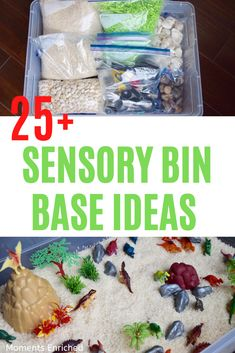 Looking to liven up your sensory play with some new materials? Or, are you new to sensory bins and looking for some direction? Check out all of our ideas for endless sensory fun! #sensoryplay #sensorybin #toddleractivities #playathome Toddler Fine Motor Activities, Sensory Activities Toddlers, Infant Activities, Sensory Table, Sensory Bins, Sensory Play, Play Based Learning, Dried Beans, Wet And Dry